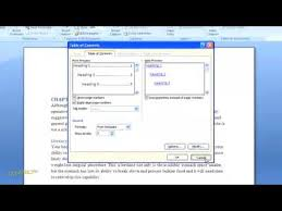 How To Do A Table Of Contents How To Create A Table Of Contents In Word 2007 For Dummies Youtube