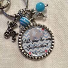 godmother keychain will you be the godmother will you be my godmother â baby