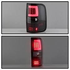 2004 f150 tail lights spyder black fiber optic led tail lights 2004 2008 ford f 150