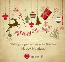 happy holidays ladder up