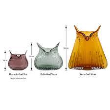 owl vase amber