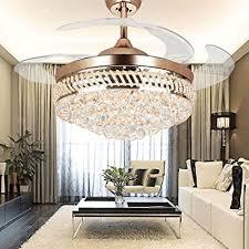 acrylic ceiling fan blades colorled modern crystal remote control transparent acrylic blade
