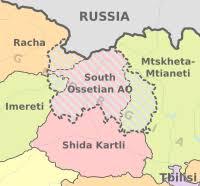 south ossetia map south ossetia