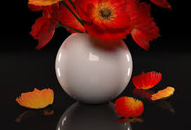 Vase With Red Poppies Red Poppies Flowers 3d Model Cgtrader