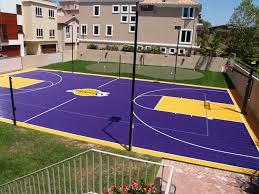 Backyard Sport Courts Diagram Backyard Basketball Court Dimensions Image Of Loversiq