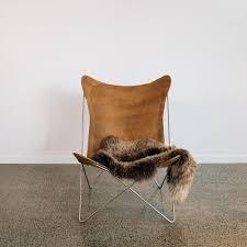 leather butterfly chair leather butterfly chair dark tan corcovado