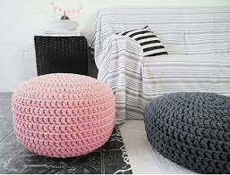 light pink pouf ottoman floor pillow foot stool pouf blush