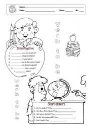 verb to be interrogative form and short answers