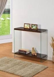 console glass table foter