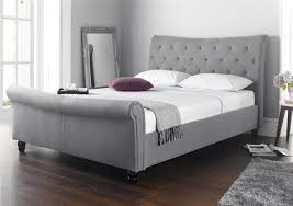 Grey Upholstered Ottoman Bed Grey Fabric Bed Frame