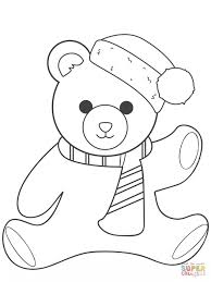 get this christmas teddy bear coloring pages yagr7