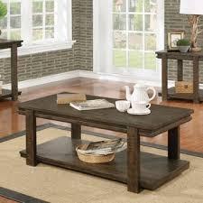Unique Rustic Coffee Tables Rustic Coffee Table Wheels Wayfair