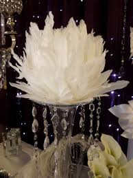 Centerpiece With Feathers by Http Www Weddingrentalsonline Com Feathers Balls Centerpieces