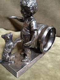 antique dog ring holder images Reed and barton silver napkin rings 1824 collection for the home jpg