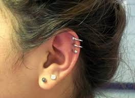awesome cartilage earrings cool spiral ear piercing