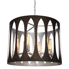 bronze and silver light fixtures maddox 6 light pendant mariana home