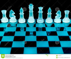 Glass Chess Boards Chess Pieces Stock Image Image 31662721