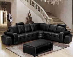 canape d angle destockage deco in canape d angle en cuir noir avec appuie tete relax