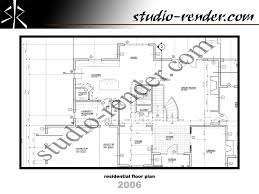 studio render com real estate floor plans