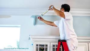 painting your house exterior using ladders counter top paint reviews