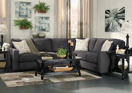 charcoal sectional sofa home furnishings depot ny alenya charcoal extended sectional