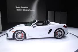 Porsche Boxster Spyder - new york 2015 2016 porsche boxster spyder debuts the truth
