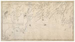 Map Portland Maine by Lemuel Moody U0027s Landmark Chart Of Casco Bay Rare U0026 Antique Maps