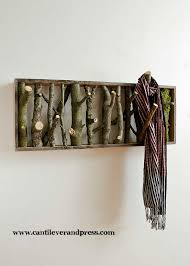 wall hooks by tree branches decoholic