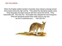 where did the word kangaroo come from emu ridge