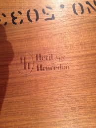 how much is my heritage henredon 1950 u0027s danish modern dining room