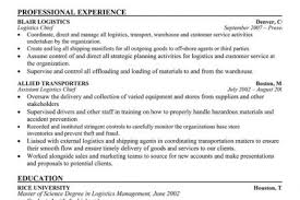 Warehouse Worker Resume Example by Billing Coordinator Logistics Resume Reentrycorps