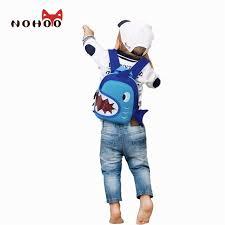 nohoo waterproof bags blue 3d shark kids baby bags cartoon