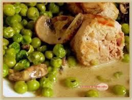 cuisiner des petit pois frais le mignon aux petits pois la cuisine de mamie caillou