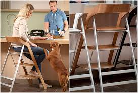 Step Stool Chair Combination Usit Stepladder Chair