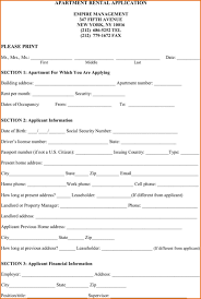 6 apartment rental application template printable receipt