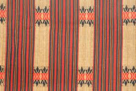 tribal tapestry red tan black brown naga ethnic blanket tribal