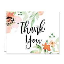 thank you cards floral watercolor thank you card digibuddha