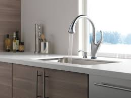 Touch Activated Kitchen Faucets Delta Addison Touchless Single Handle Standard Kitchen Faucet With
