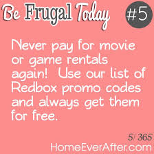 be frugal today 5 use redbox promo codes to get free movies and