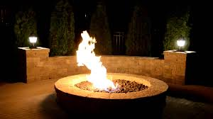 Outdoor Natural Gas Fire Pit Natural Gas Fire Pit Youtube
