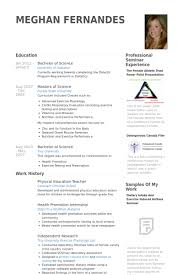 English Teacher Resume Examples by Physical Education Teacher Resume Samples Visualcv Resume