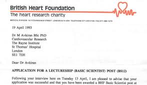 charity rejection letter sample empowering the brightest minds to beat heart disease a scan of the letter metin received to confirm he had been awarded that crucial bhf funding