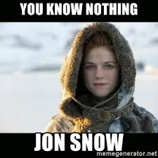 You Know Nothing Meme - you know nothing jon snow ygritte meme generator