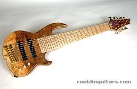 9 string fanned fret conklin guitars custom shop quilt top sidewinder 9 string bass