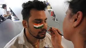 Flag Face Veridic Technologies Pvt Ltd Indian Flag Face Painting Competition