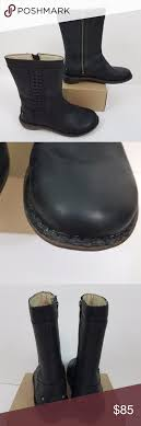 ugg s kaleen boot ugg kaleen boots black leather wool lined mid calf ugg kaleen