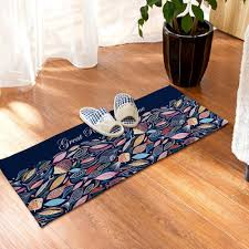 Home Blue Fish Yazi Blue Fish Kitchen Rug Soft Plush Colorful Fish Floor Mat