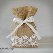 burlap wedding favor bags wedding favor bag baby shower favor from teomil on etsy