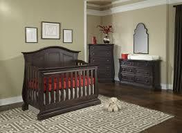 Wood Convertible Cribs Minimalist Chocolate Mahogany Wood Convertible Crib Laminated Wood