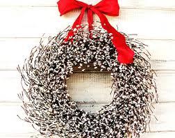 christmas wreath winter wreath holiday home by wildridgedesign